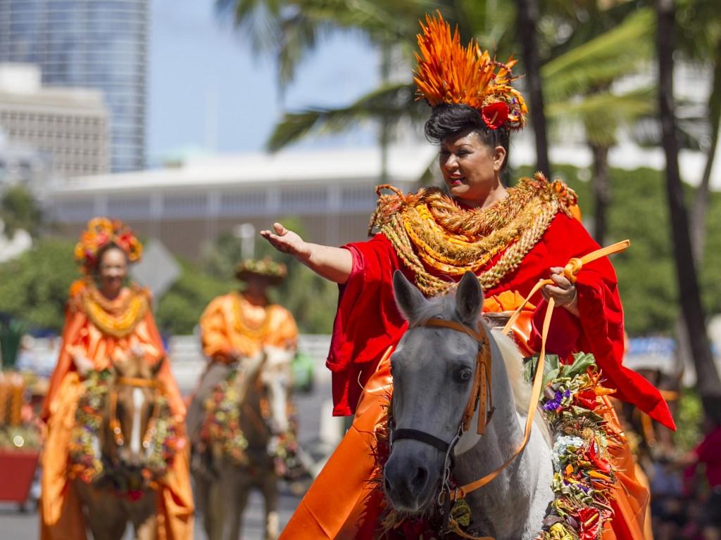 2016 Aloha Festivals Floral Parade Lanai Princess Ronica Ann Ibara1