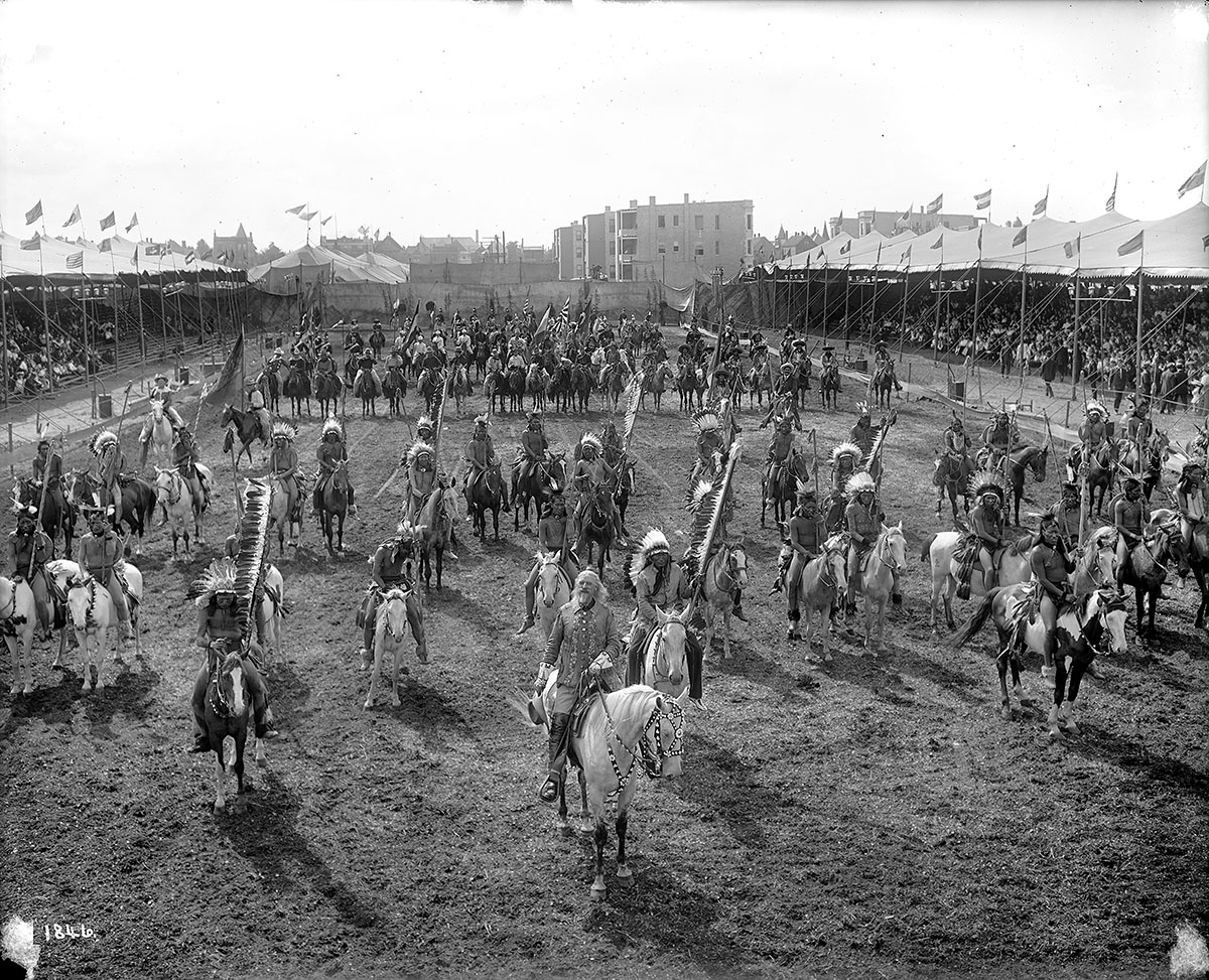 Buffalo Bill's Wild West show in 1907. (Wyoming State Archives)