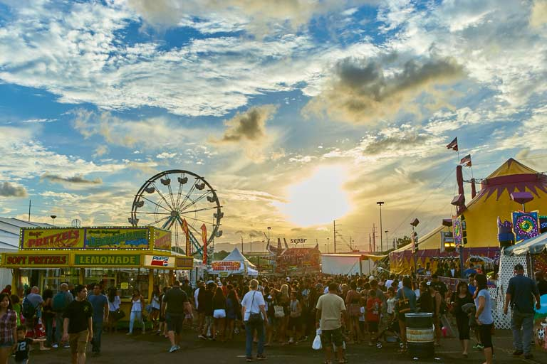 50th State Fair Ferris Wheel Sunset