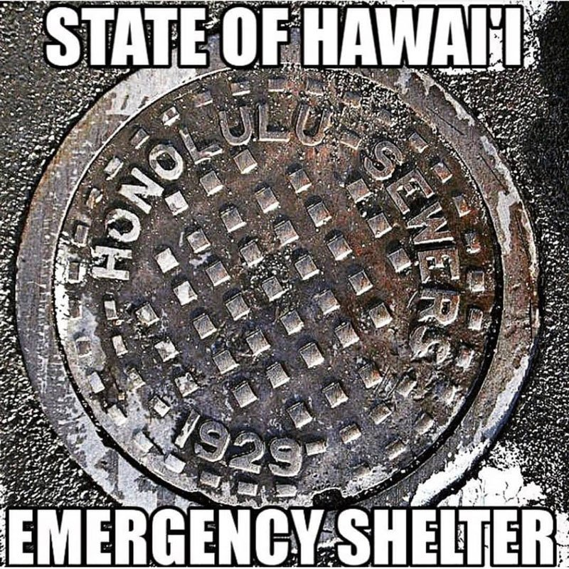 State of Hawaii emergency shelter