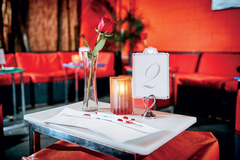 Field Notes Speed Dating Rose Table