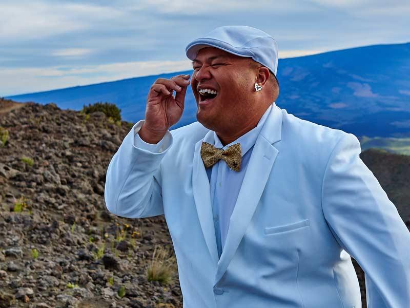 Kalani Pea Mauna Kea Laughing
