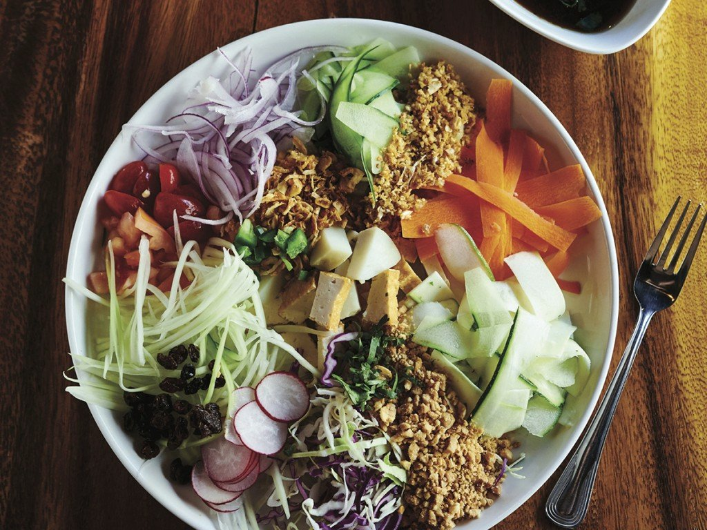 Rangoon Burmese Kitchen Chinatown Downtown Honolulu Rainbow Salad Cover