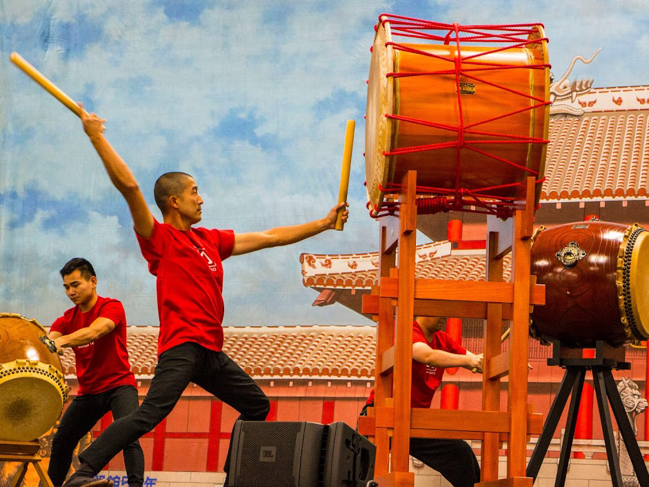 Okinawan Festival Honolulu Convention Center Drums