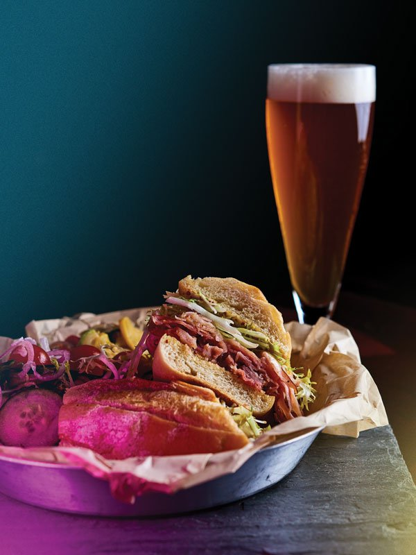 Aloha Beer Co. Smoked Pork Loin Sandwich