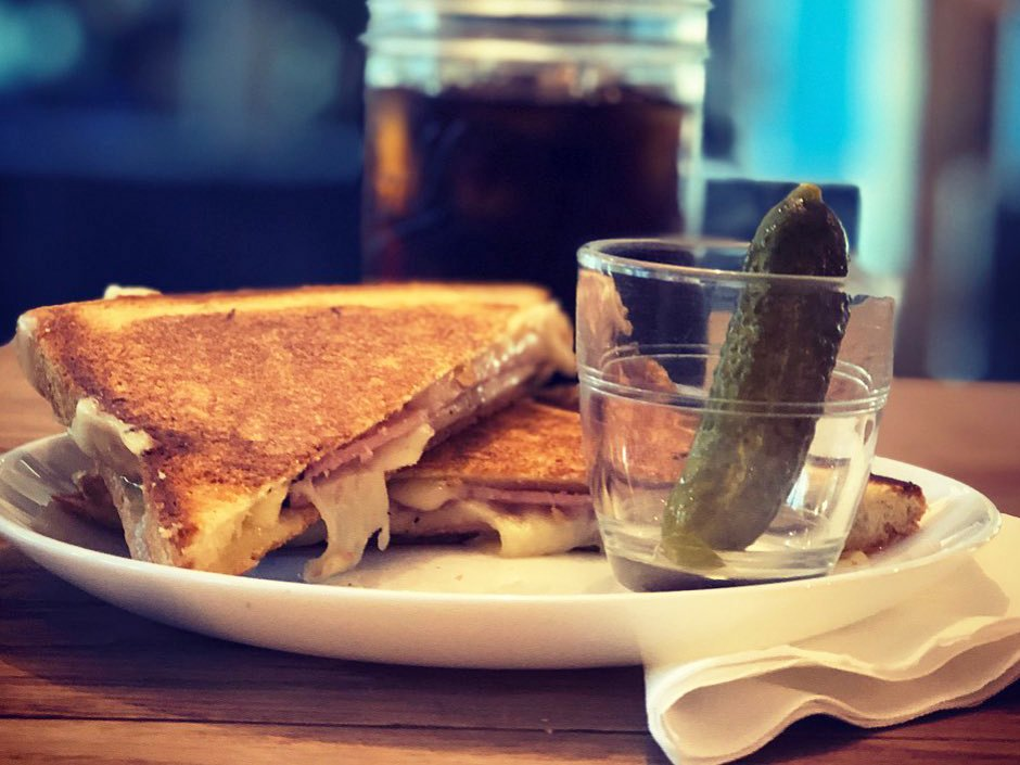 Bean About Town Grilled Cheese Breakfast Sandwich