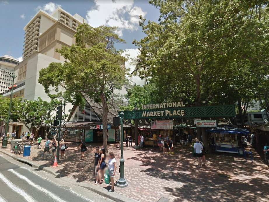 Google Street View Honolulu International Market Place Waikiki Cover