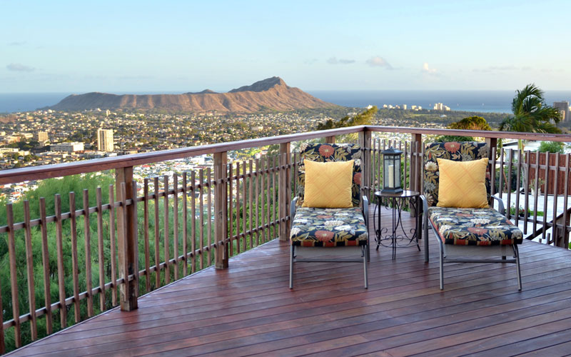 St Louis Heights Lanai With Diamond Head View