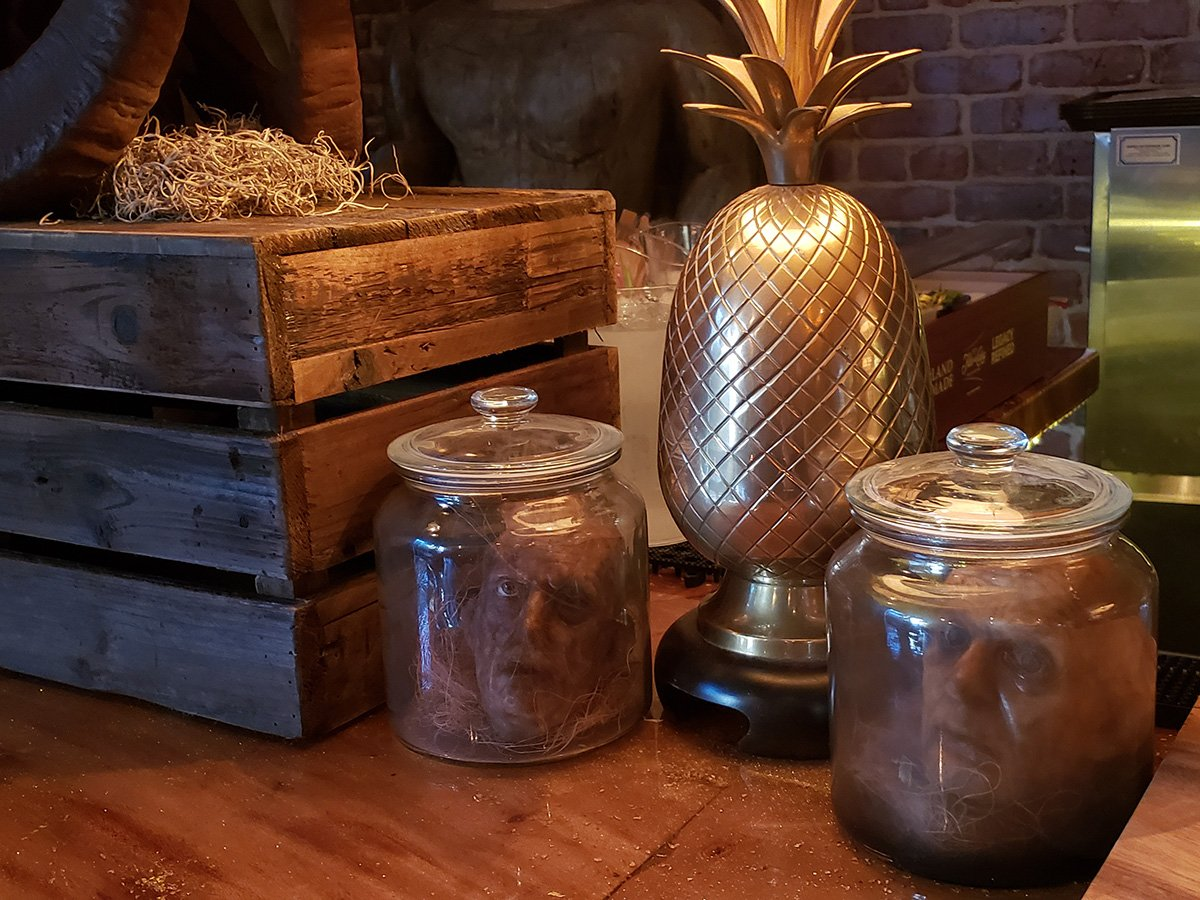 Skull and Crown heads in jars