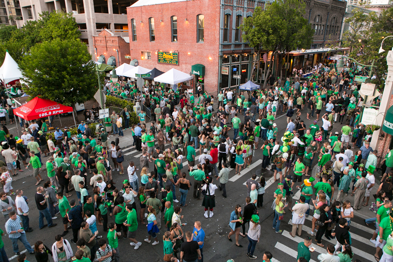 St Patricks Day Block Party Crowd