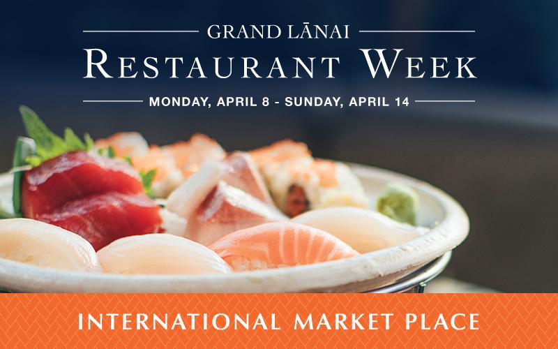 Grand Lanai Restaurant Week Imp 2019