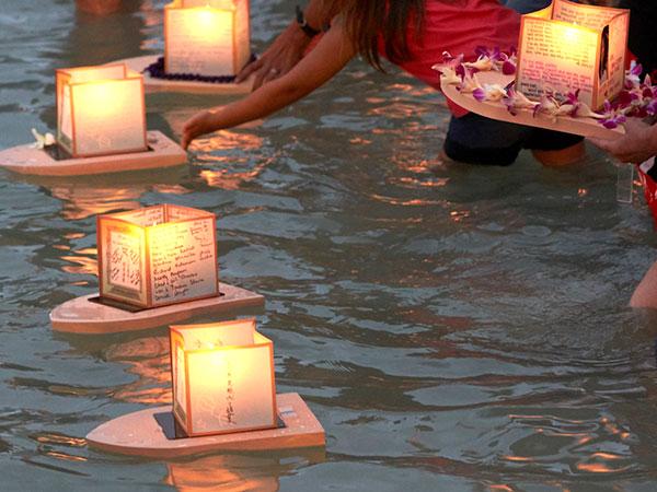 Lantern Floating Splash