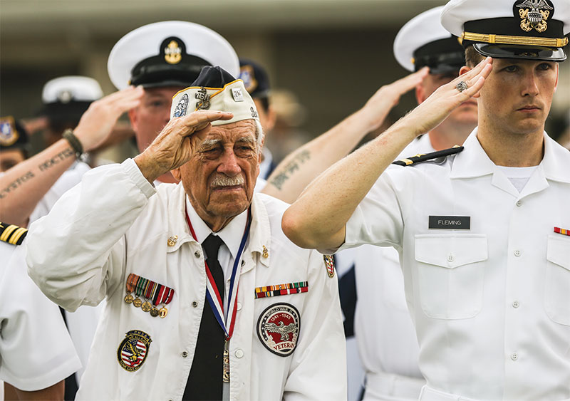 Pearl Harbor Soldiers Salute