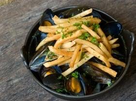 Musselsandpommefrites