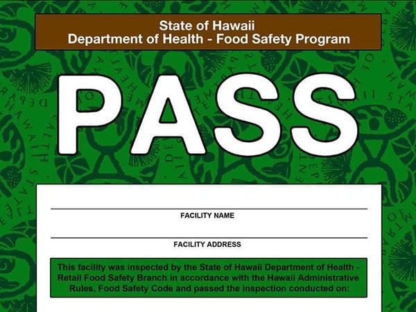 Hawaii Restaurant Placard
