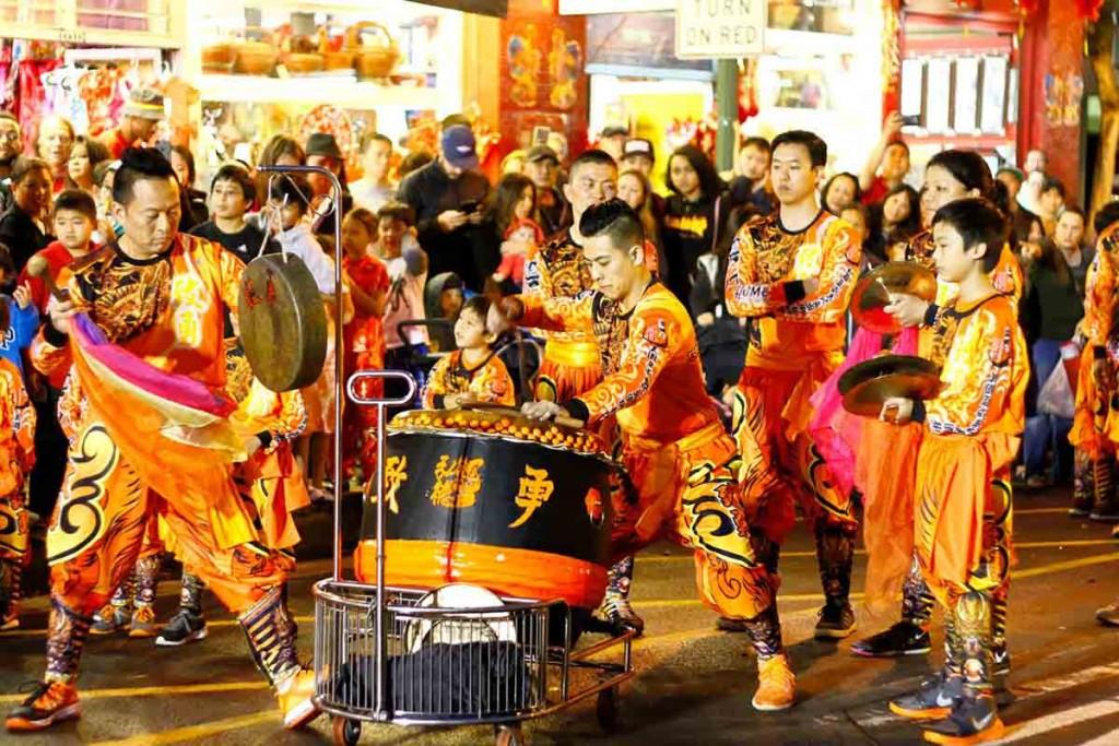 Honolulu Chinatown Chinese New Year Drummers