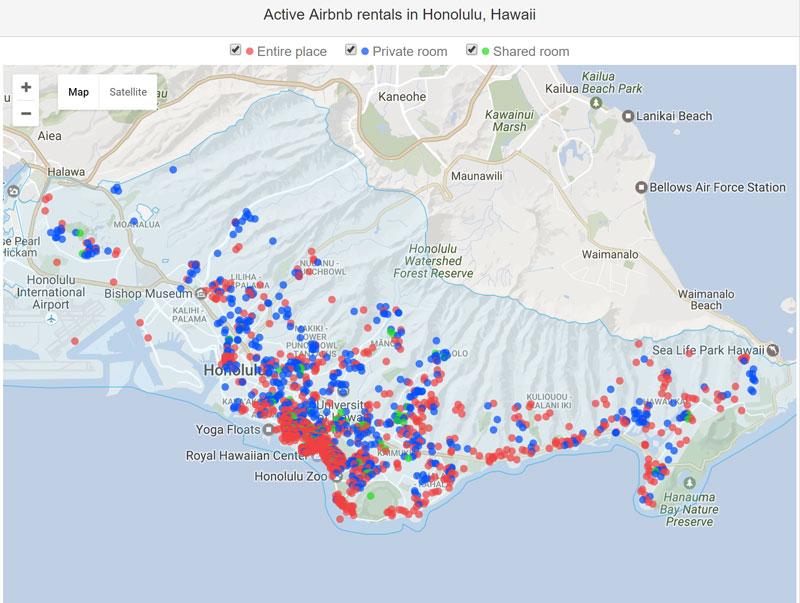 Real Estate Active Airbnb Rentals Honolulu
