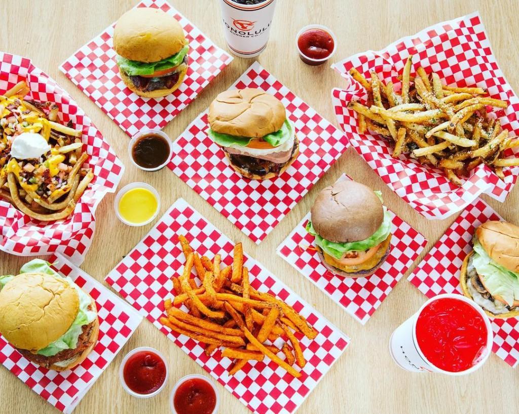 Honolulu Burger Co Top Down Spread