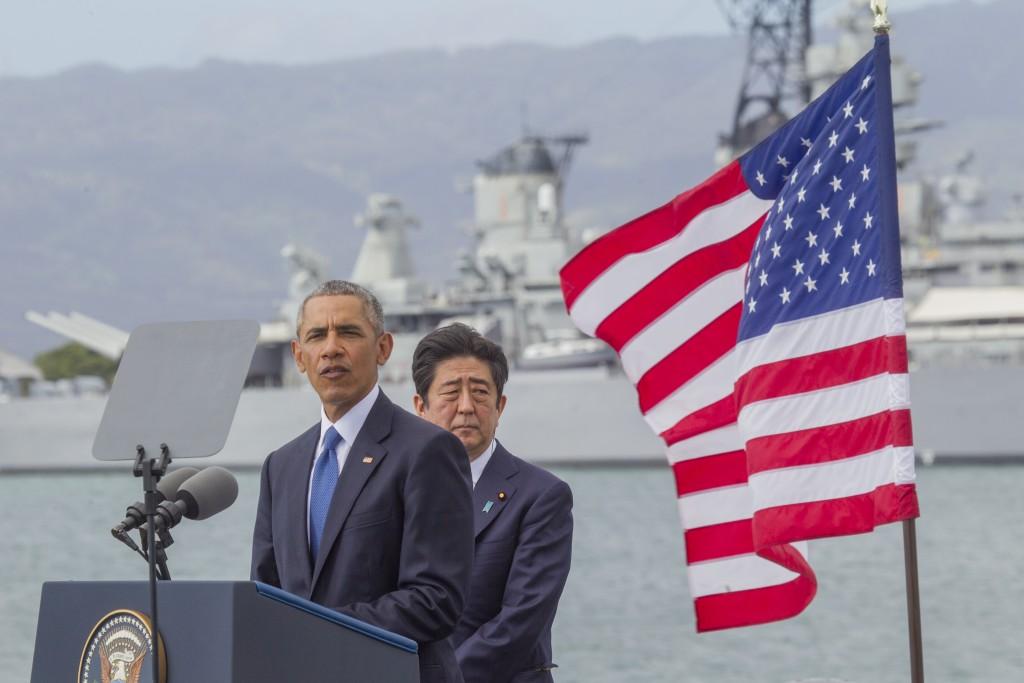 President Obama And Prime Minister Shinzo Abe Pearl Harbor White House Press Pool