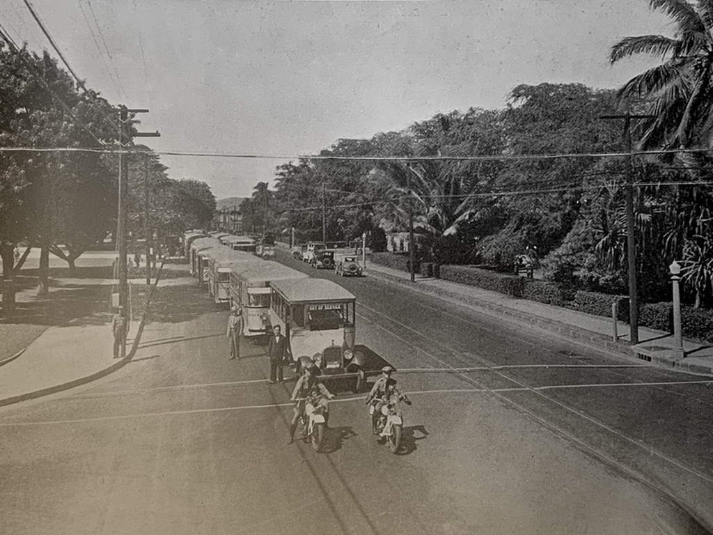 Vanishing Street Car Tracks Honolulu 1934