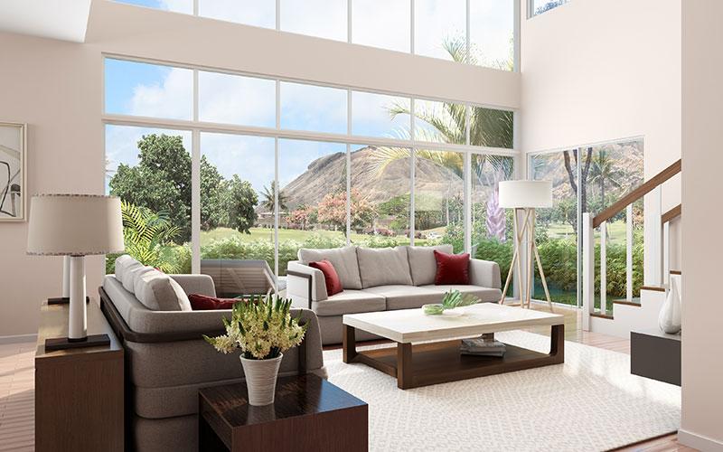 Hawaii Kai Development Living Room