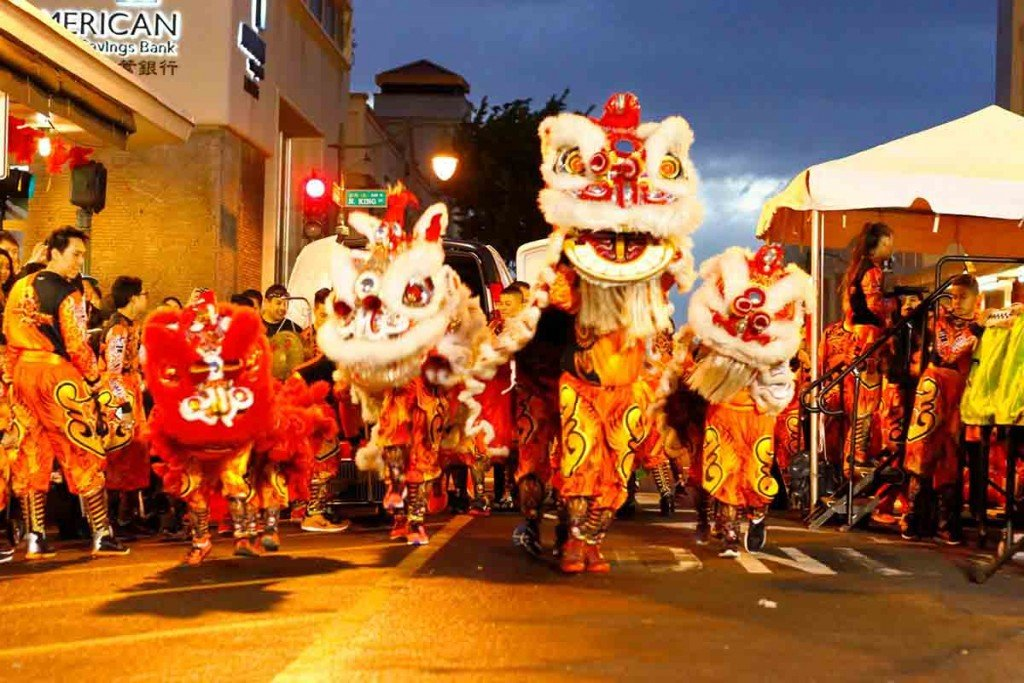 Honolulu Chinatown Chinese New Year Lion Dance