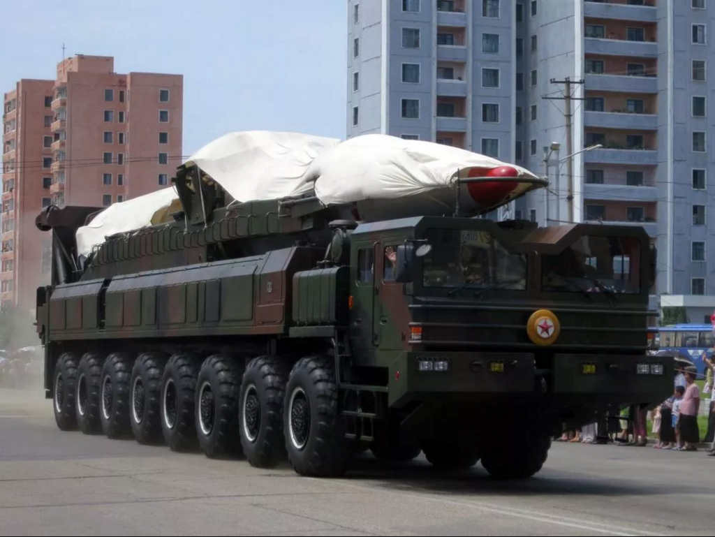 North Korea Truck Missile