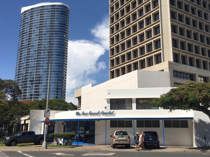 Real Estate Modern Architecture Blue Cross