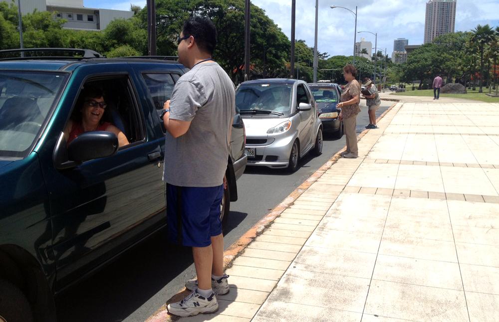 Drive Thru Voting Hawaii State Capitol