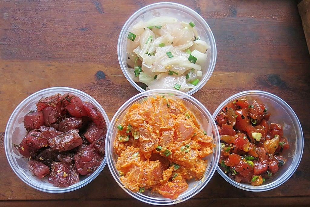 Tamashiro Market Aku Poke Spicy Ahi Negi Toro With Kajiki Onion