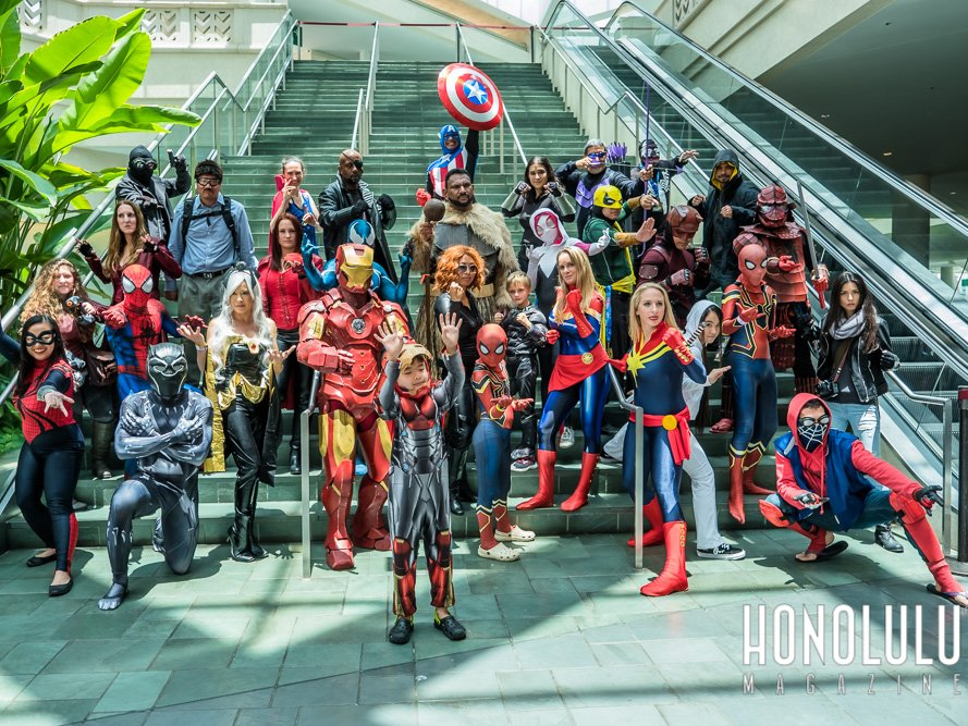 Comic Con Honolulu 2018 Group Superheroes Cosplay