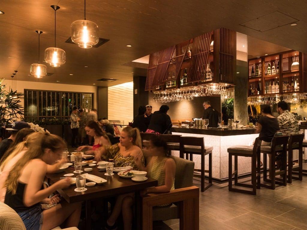 Morimoto Waikiki Happy Hour Bar Area