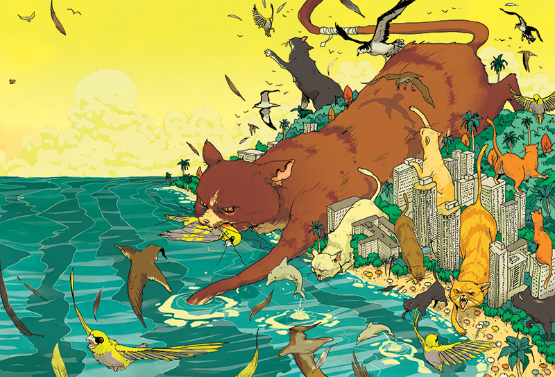 Cat vs Birds Cover Spread