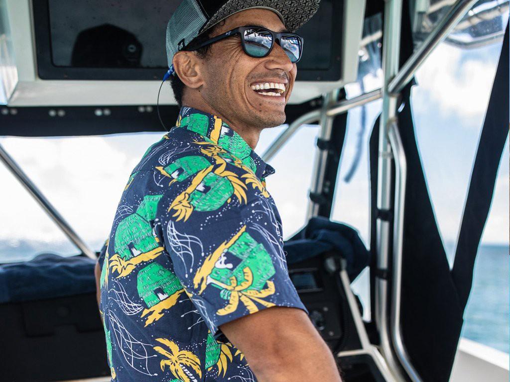 Western Aloha Hut Shirt Boat