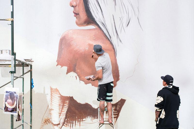 Powwow Mural Painting
