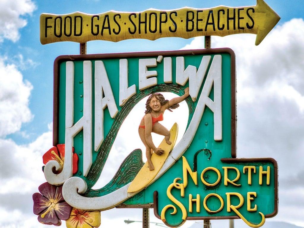 Haleiwa Town Sign Oahu Walking Tour Cover