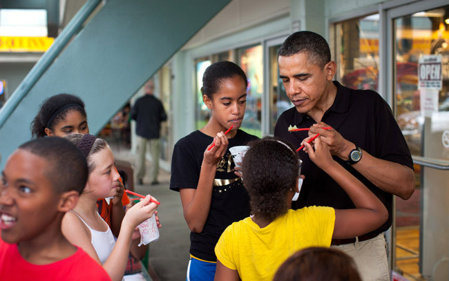 President Barack Obama at Island Snow.