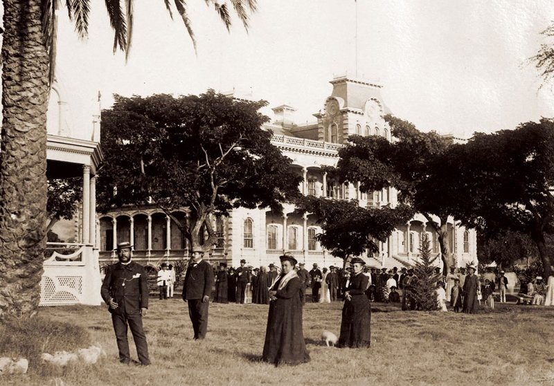Iolani Palace in 1888.