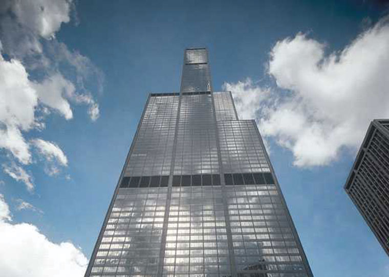 Willis Tower Looking Up