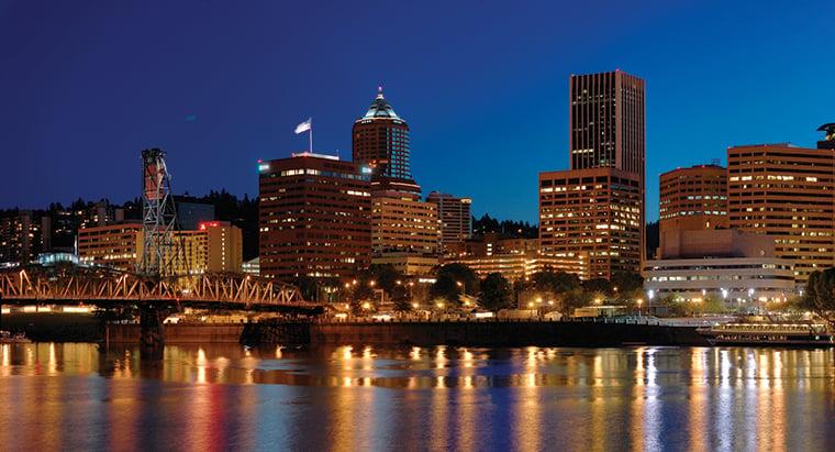 Portland Night Panorama