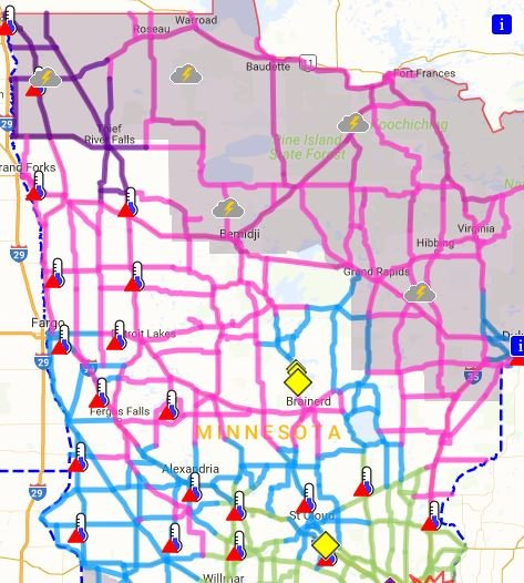 UPDATE Blizzard Shuts Down Many ND Highways No Travel Advised In - Mn road map
