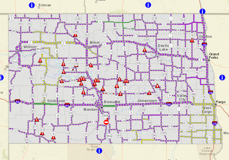 Travel Alert Still in Effect for North Dakota Minnesota Roads – Mn Dot Travel Map