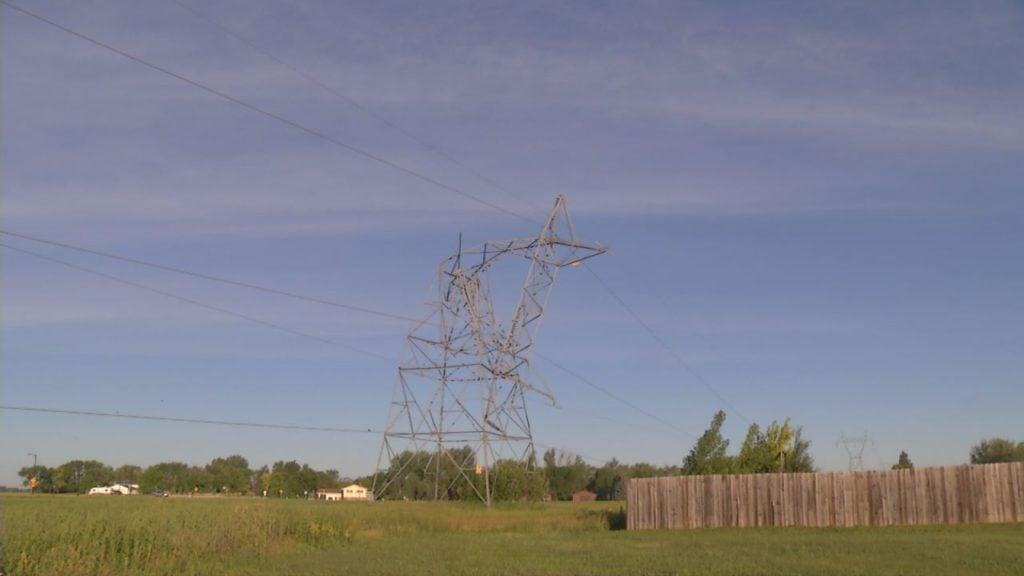 Storm Damages Power Transmission Tower In Fargo Kvrr