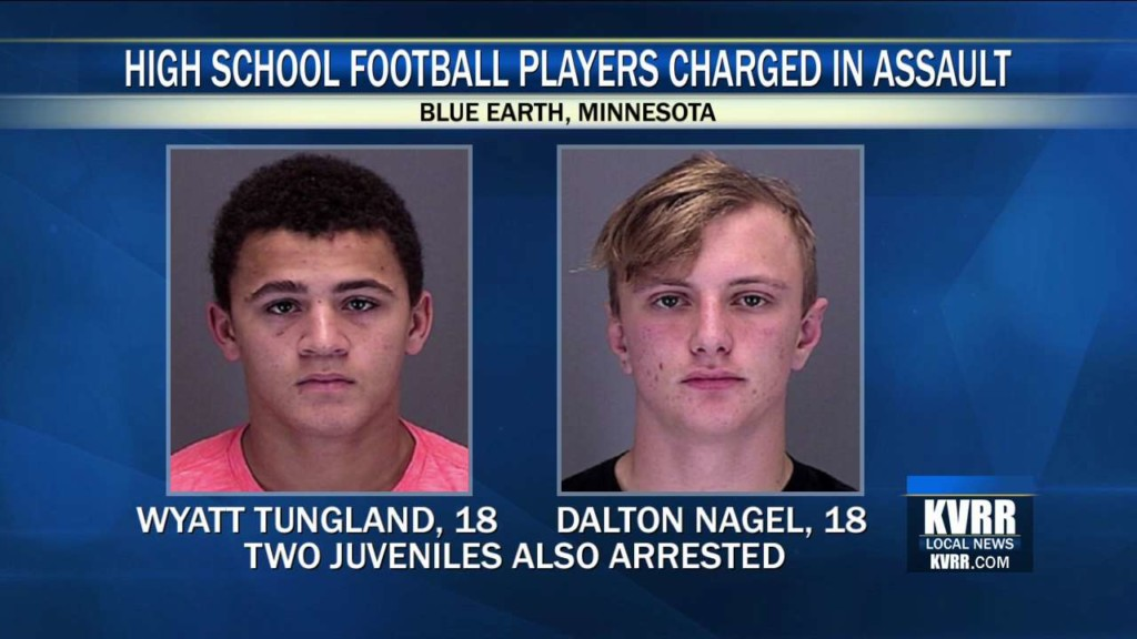 Four Blue Earth High School Football Players Charged with Assault on