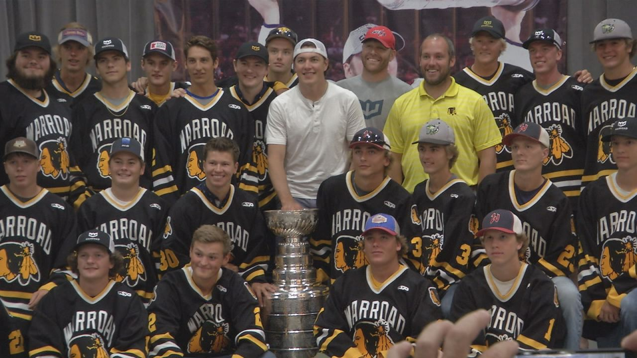 more photos c0cb1 2ca59 T.J. Oshie Brings Stanley Cup Home to Hockeytown, USA - KVRR ...