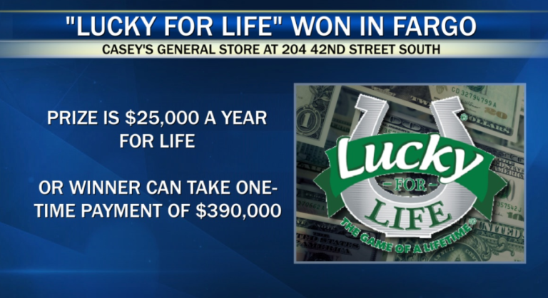 Winning Lucky For Life Ticket Sold At A Casey S In Fargo Kvrr