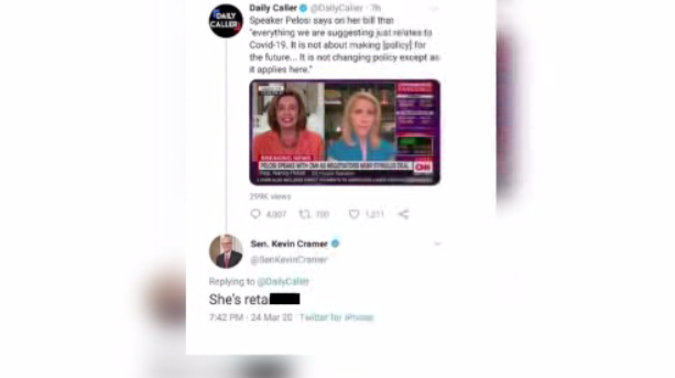 Cramer Pelosi Tweet Deleted