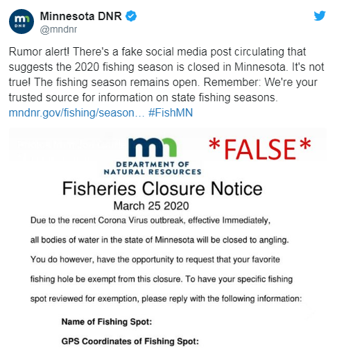 Dnr False Report Fishing