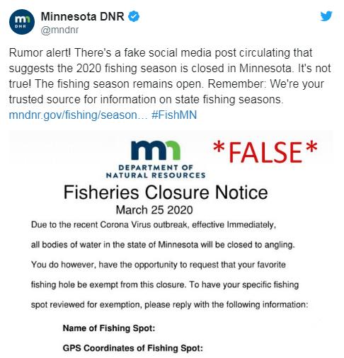 Dnr False Report Fishing