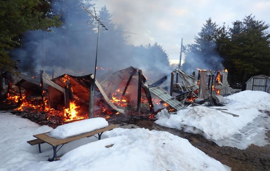 Wadena County Cabin Fire